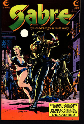 eclipse comics SABRE#2 PAUL GULACY Don McGregor Dystopian Science Fiction Swashbuckler Mature Content