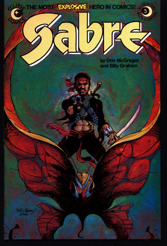 eclipse comics SABRE#5 BILLY GRAHAM Don McGregor Dystopian Science Fiction Swashbuckler Mature Content