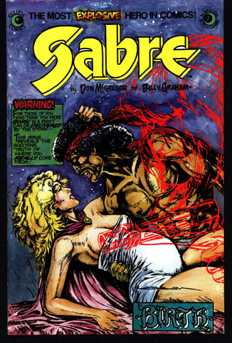 eclipse comics SABRE#7 BILLY GRAHAM Don McGregor Dystopian Science Fiction Swashbuckler Mature Content