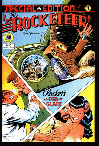 eclipse comics The ROCKETEER Special Edition #1 Dave Stevens Pulp Fiction Hero PinUp Betty Bettie Page