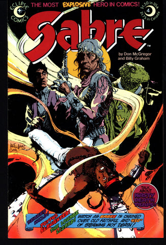 eclipse comics SABRE#4 BILLY GRAHAM Don McGregor Dystopian Science Fiction Swashbuckler Mature Content
