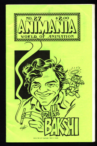 ANIMANIA #8 MINDROT #27 Ralph BAKSHI Fritz the Cat R Crumb Animated Film Quarterly Animation Anime Cartoons