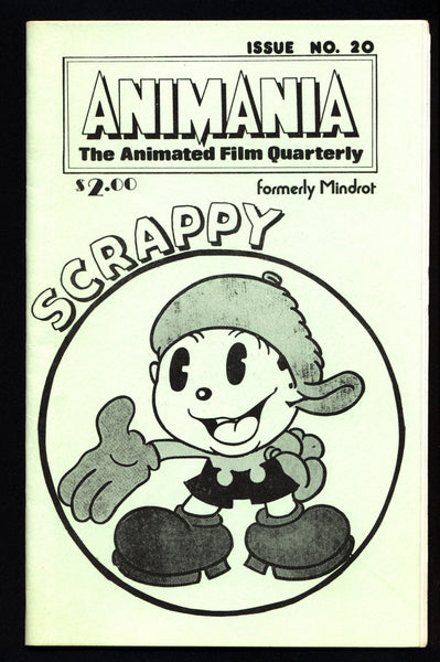 ANIMANIA #1 MINDROT #20 Scrappy Animated Film Quarterly Animation Anime Cartoons