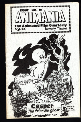 ANIMANIA #2 MINDROT #21  Casper Friendly Ghost Animated Film Quarterly Animation Anime Cartoons