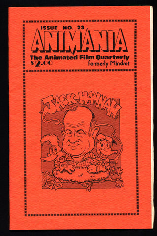 ANIMANIA #4 MINDROT #23 Jack Hannah Animated Film Quarterly Animation Anime Cartoons