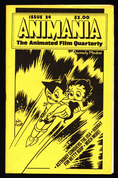ANIMANIA #5 MINDROT #24 Betty Boop Osama Tezuka Mighty Atom Astroboy Animated Film Quarterly Animation Anime Cartoons
