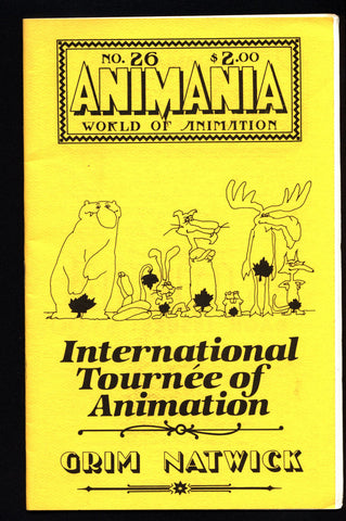 ANIMANIA #7 MINDROT #26 International Tournee Animated Film Quarterly Animation Anime Cartoons