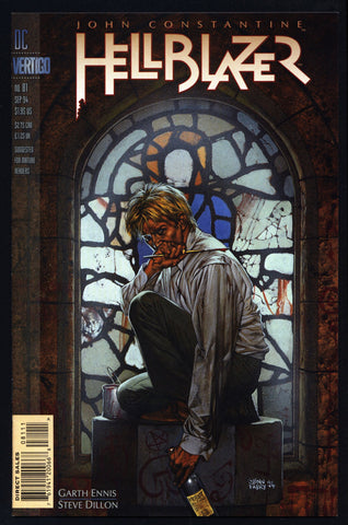 DC Comics Vertigo Press John CONSTANTINE HELLBLAZER #81 Garth Ennis Supernatural Magic Gothic Horror Anti-Super Hero Goth