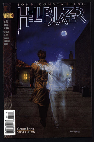 DC Comics Vertigo Press John CONSTANTINE HELLBLAZER #76 Garth Ennis Supernatural Magic Gothic Horror Anti-Super Hero Goth