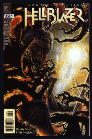 DC Comics Vertigo Press John CONSTANTINE HELLBLAZER #77 Garth Ennis Supernatural Magic Gothic Horror Anti-Super Hero Goth