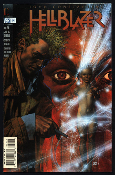 DC Comics Vertigo Press John CONSTANTINE HELLBLAZER #78 Garth Ennis Supernatural Magic Gothic Horror Anti-Super Hero Goth