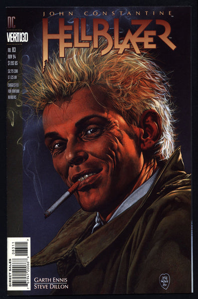 DC Comics Vertigo Press John CONSTANTINE HELLBLAZER #83 Garth Ennis Supernatural Magic Gothic Horror Anti-Super Hero Goth