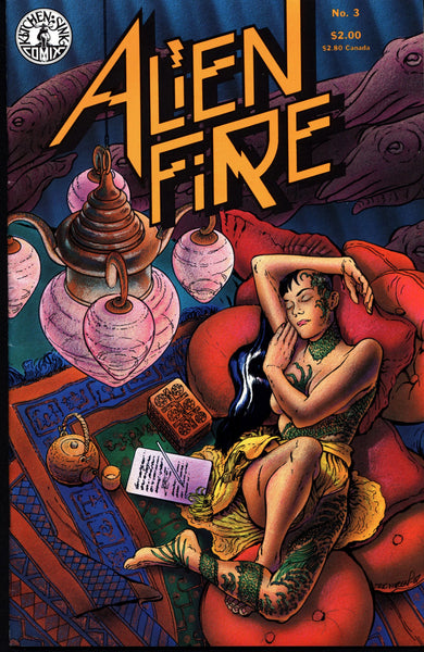 ALIEN FIRE #3 Eric Vincent 1987 Kitchen Sink Science Fiction Horror Alternative Independent Comic