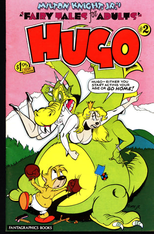 HUGO #2 1984 Milton Knight Jr Fantagraphics Alternative Funny Animal Adult Fairy Tale Anthropomorphic Independent Comic