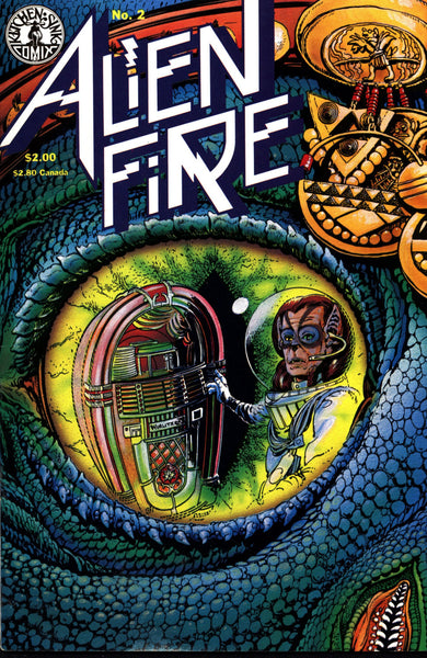 ALIEN FIRE #2 Eric Vincent 1987 Kitchen Sink Science Fiction Horror Alternative Independent Comic