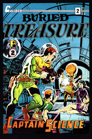 BURIED TREASURE #2 Caliber Press Pure Imagination Silver Age Science Fiction Horror Fantasy Anthology Alternative Comic