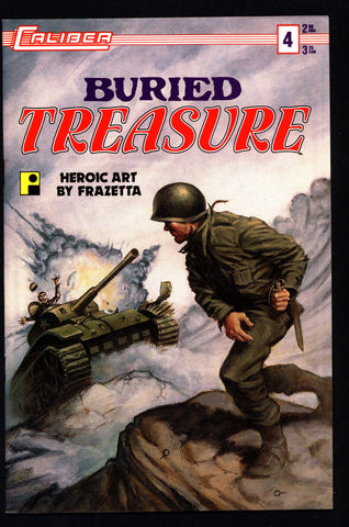 BURIED TREASURE #4 Frank Frazetta Caliber Press Pure Imagination Silver Age War Anthology Alternative Comic