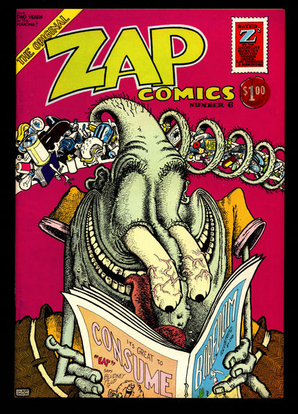 ZAP Comix #6 2nd Robert CRUMB Apex Novelty ADULT Dope Drugs Sex Psychedelic Hippy Underground Comic