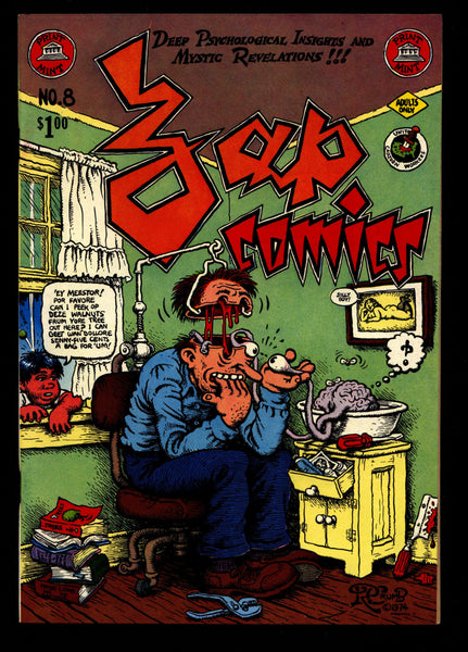 ZAP Comix #8 2nd Robert CRUMB Spain Griffin Moscoso Shelton Wilson Williams Print Mint ADULT Dope Drugs Sex Psychedelic Hippy Underground
