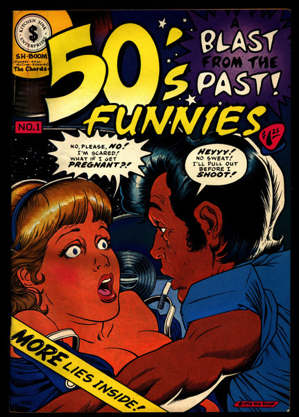 50's FUNNIES Kitchen Sink Stout Bissette Shaw Veitch Mature ADULT Dope Drugs Sex Psychedelic Hippy Underground Comic