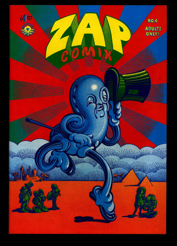 ZAP Comix #4 5th Robert CRUMB Apex Novelty ADULT Dope Drugs Sex Psychedelic Hippy Underground Comic