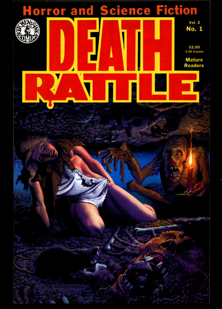 DEATH RATTLE #1 Rich Corben Burns Dallas Rand Holmes Fantasy Horror  Psychedelic Underground Anthology Comic