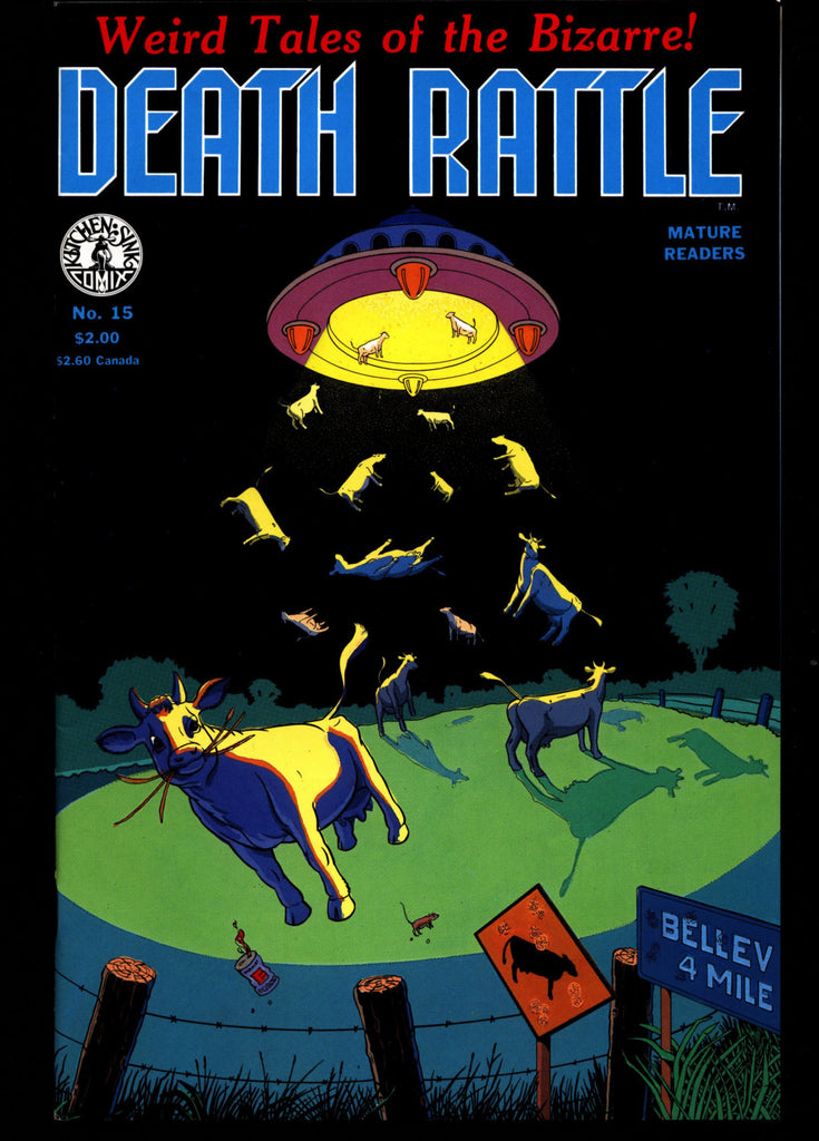 DEATH RATTLE #15 Jack Jackson Jaxon Don Simpson Bill Hartwig Mature Horror  Fantasy Science Fiction Psychedelic Underground Anthology Comic