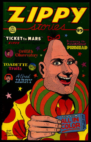 ZIPPY Stories 1st Red Ink Bill Griffith YOW! Rip Off Press Digest  Are We Having Fun? Zippy the Pinhead Freaks Underground Anthology Comics