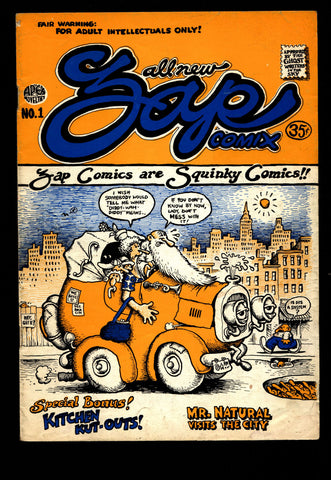 ZAP Comix #1 3rd Robert CRUMB Apex Novelty Mr. Natural Keep on Trucking ADULT Dope Drugs Sex Psychedelic Hippy Underground Comic *