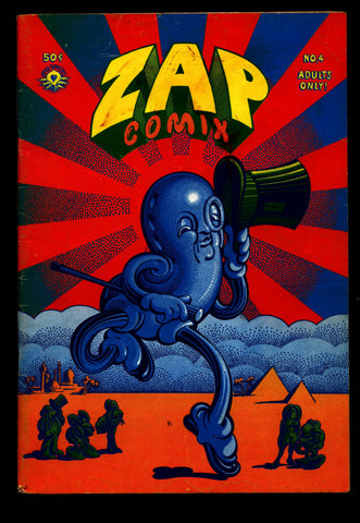 ZAP Comix #4 1st Robert CRUMB Spain Williamson Griffith Shelton Wilson Apex Novelty ADULT Dope Drugs Sex Psychedelic Underground *