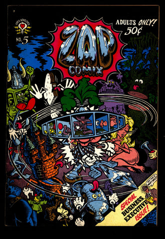 ZAP Comix #5 1st Robert CRUMB Williams Moscoso Griffin Apex Novelty ADULT Dope Drugs Sex Psychedelic Underground *