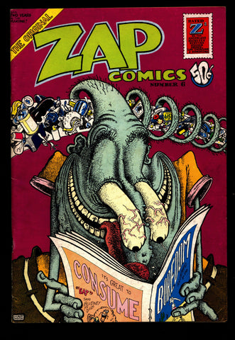 ZAP Comix #6 1st Robert CRUMB Williams Moscoso Griffin Shelton Apex Novelty ADULT Dope Drugs Sex Psychedelic Hippy Underground Comic