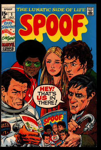 Marvel Comics SPOOF #1 Marie Severin Dark Shadows Wizard of Oz Mod Squad Gregory Peck Keir Dullea Pop Culture Humor Parody Ozmania