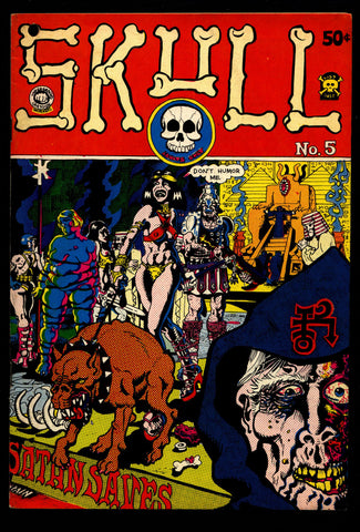 SKULL #5 Last Gasp E C Comics Style Rand Holmes Rich Corben Greg Irons Sheridan Dallas Mature ADULT Horror Sex Psychedelic Underground *
