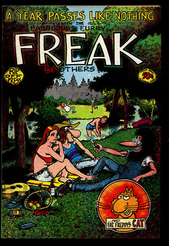 Fabulous Furry FREAK BROTHERS #3, 1st A Year Passes Like Nothing, Gilbert Shelton