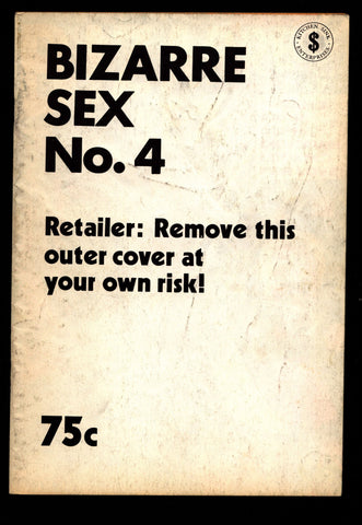 BIZARRE SEX #4 2nd Harvey Pekar Trina Howard Cruse Geradts Loft Budgett Horror Humor Science Fiction Hippie Underground *
