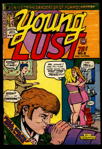 YOUNG LUST #3, Brand, Spain, Green, Sonntag, Kinney, Griffith, Zany Humor, Hippie Underground Comic