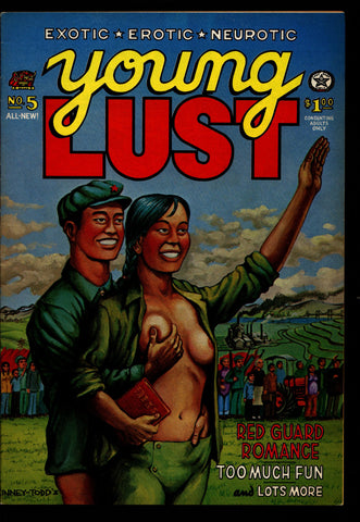 YOUNG LUST #1, 1st, Todd, Kinney, Griffith, Spain, Mavrides, Zany Humor, Hippie Underground Comic