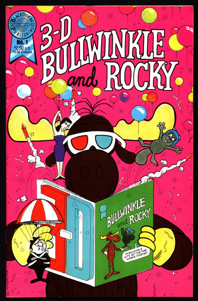 BULLWINKLE & ROCKY Jay Ward 3-D Blackthorne Publishing