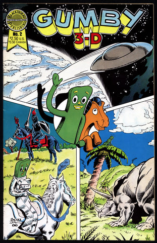GUMBY 3-D #2 Comic Book Arthur Clokey Blackthorne Publishing