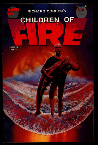CHILDREN of FIRE #1 Rich Corben Heavy Metal Horror Science Fiction Fantasy Fantagor Underground Comic*