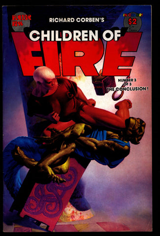 CHILDREN of FIRE #3 Rich Corben Heavy Metal Horror Science Fiction Fantasy Fantagor Underground Comic*