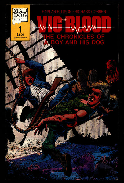 VIC and BLOOD #1 Rich Corben Harlan Ellison Movie A Boy & His Dog Chronicles Horror Science Fiction Fantasy Mad Dog Underground Comic*