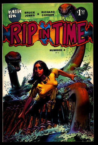RIP IN TIME #4 Rich Corben Bruce Jones Kaiju Heavy Metal Horror Science Fiction Fantasy Fantagor Underground Comic*