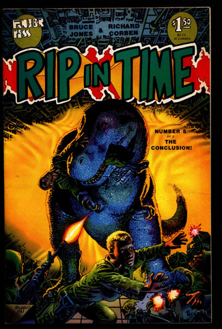 RIP IN TIME #5 Rich Corben Bruce Jones Kaiju Heavy Metal Horror Science Fiction Fantasy Fantagor Underground Comic*