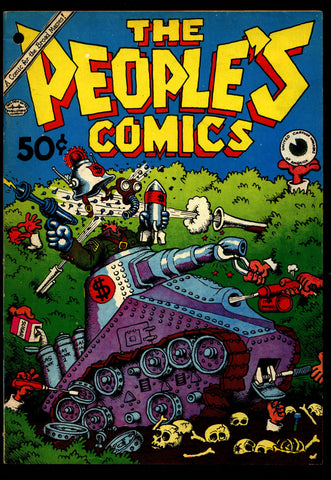 PEOPLES COMICS 1st Robert Crumb DEATH of Fritz the Cat Harvey Peckar Ralph Bakshi Humor Underground*