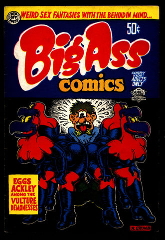 BIG ASS Comics #1 5th Robert Crumb Weird Sex Fantasy Humor Underground*