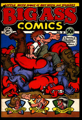 BIG ASS Comics #2 2nd Robert Crumb Matte Cover No Copyright Sex Humor Underground*