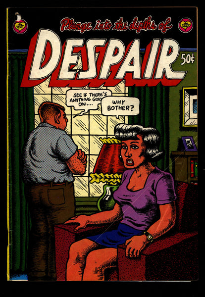 DESPAIR Comics 2nd Robert Crumb Angst & Psychodrama Sex Drugs Humor Underground*
