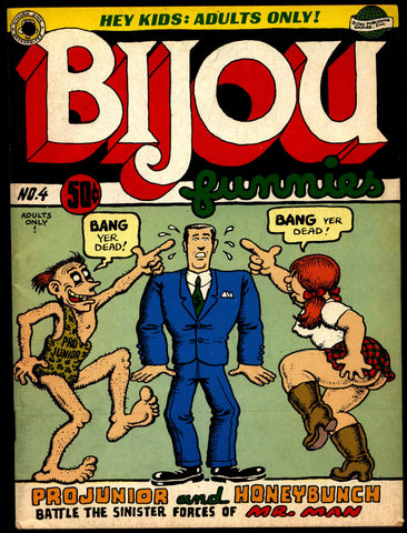 BIJOU #4 2nd Robert Crumb Lynch Williamson Clyne First Krupp Printing Underground Humor*